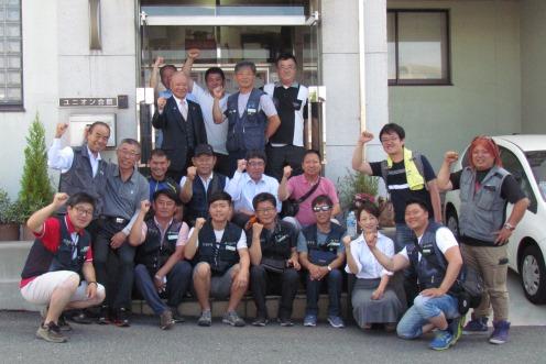 韓国から建設労組代表団 各地で熱い交流