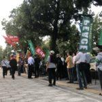 平和フォーラムが大阪府警前で抗議集会